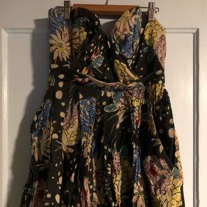 Anthropologie Strapless Short Short Dress Size S